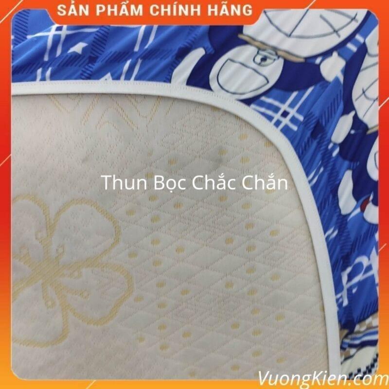 Drap thun lạnh Hàn Quốc doremon kitty xanh DTLHQ008