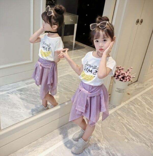 Set quần áo bé gái hàn quốc 001