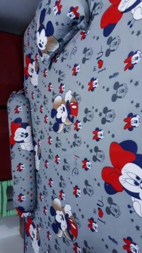 Drap Giường Thun Lạnh Hàn Quốc cho bé mẫu mickey xám 1m6, 1m8, 1m4 022 photo review