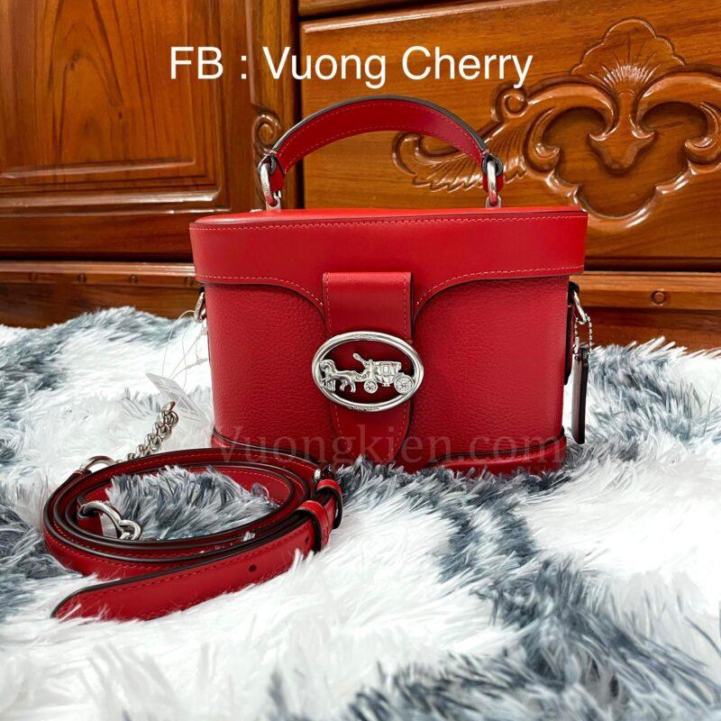 Túi Xách Coach Georgie Gem Crossbody Red Pebble Leather Shoulder Purse 5503 Màu Đỏ