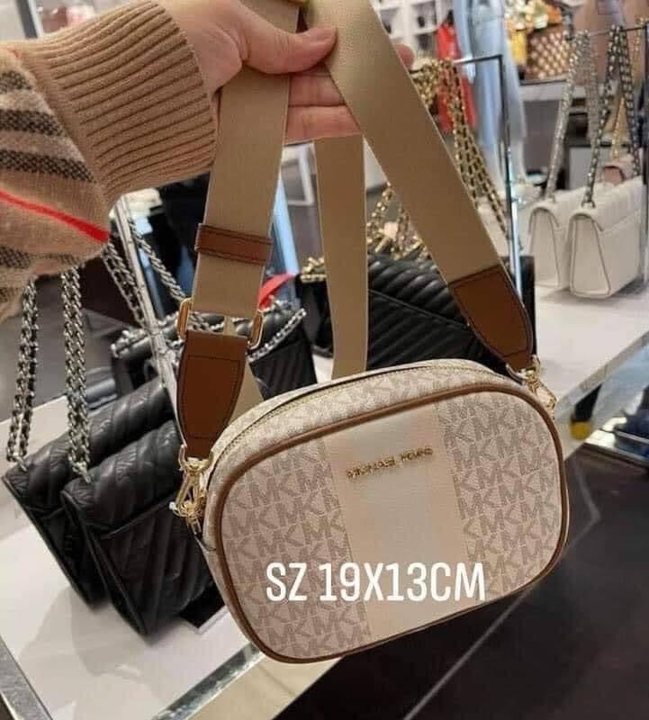 Túi MK Michael Kors màu da dây vải