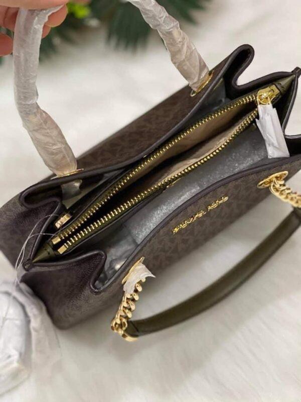 Túi xách MK Michael Kors màu nâu logo
