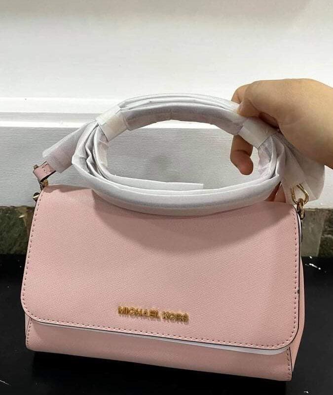 Túi xách MK Michael Kors màu hồng nhạt